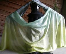 ORDERABLE: 5mm Ultralight 3 yard Silk Belly Dance Veil, in KATMANDU STRIPE