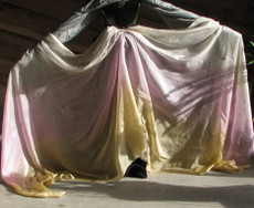 ORDERABLE: 5mm Ultralight 3 yard Silk Belly Dance Veil, in LACE AND ROSES
