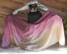 5mm Ultralight 3 yard Silk Belly Dance Veil, in CUPID