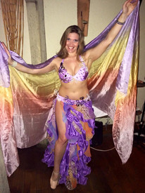 ORDERABLE: 5mm Ultralight 3 yard Silk Belly Dance Veil, in GIRLY DREAMS