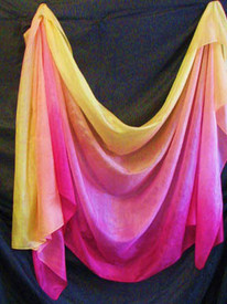 ORDERABLE: 5mm Ultralight 3 yard Silk Belly Dance Veil, in PERSEPHONE