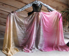 ORDERABLE: 5mm Ultralight 3 yard Silk Belly Dance Veil, in MERMAIDEN PINK