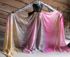 ORDERABLE: 5mm Ultralight 3 yard Silk Belly Dance Veil, in MERMAIDEN PINK