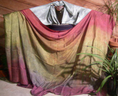 5mm Ultralight 3 yard Silk Belly Dance Veil, in GOTHIC RAINBOW