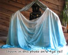 ORDERABLE:  5mm Standard Sized Ultralight Veil: Tonal Fade Blue