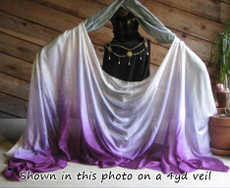 ORDERABLE: 5mm Ultralight 3 yard Silk Belly Dance Veil, in TONAL FADE PURPLE