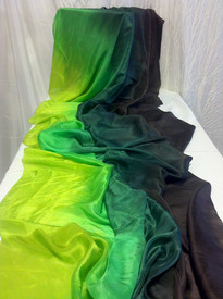 AUTUMN PREORDER VEIL OFFER:   3 yard Silk Belly Dance Veil, in CHOCOLATE DRAGON