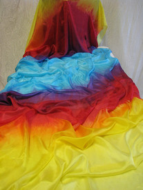 5mm Ultralight 3 yard Silk Belly Dance Veil, in ZIA      (NEW!! Spring2011 colorstyle)