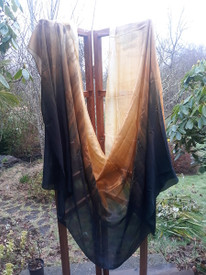 6MM  3 YARD MIDWEIGHT SILK BELLY DANCE VEIL,  in TUTUNKHAMEN