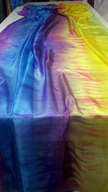 SPRING VEIL OFFER:   5mm Ultralight 3 yard Silk Belly Dance Veil, in HALO SUNSET