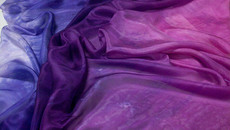 5mm Ultralight 3 yard Silk Belly Dance Veil, in PURPLE HAZE