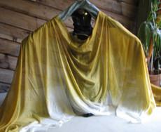 AUTUMN  PREORDER VEIL OFFER: 5mm Ultralight 3 yard Silk Belly Dance Veil, in TONAL FADE GOLD