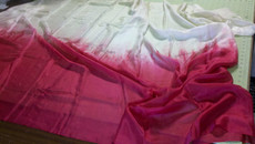 ORDERABLE : 5mm Ultralight 3 yard Silk Belly Dance Veil, in NUDE TO REDS
