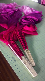 ORDERABLE:  belly dance ultralight  3 yard veil in  NEW!  FRENCH FUCHSIA