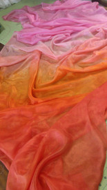 WINTER PREORDER VEIL OFFER:  5mm Ultralight 3 yard Silk Belly Dance Veil, in ZAHARA DAWN
