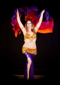 INSTOCK READY2SHIP:   TOP SELLER!   5mm Ultralight 3 Yard Silk Belly Dance Veil, in TROPICAL SUNSET