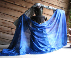 5MM 3YARD INSTOCK READY2SHIP: 5MM ULTRALIGHT 3 YARD SILK BELLY DANCE VEIL,  in SAPPHIRE  *ROYAL BLUE*