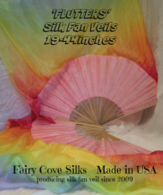 *Easy Order* YOUR  made to order  MEDIUM STAVES  FLUTTER FANS HERE    19 - 44  INCHES    PAIR  CHOOSE YOUR COLORS