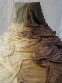 WINTER PREORDER VEIL OFFER:  5mm Ultralight 3 yard Silk Belly Dance Veil, in 'CHOCOLATE LATTE'