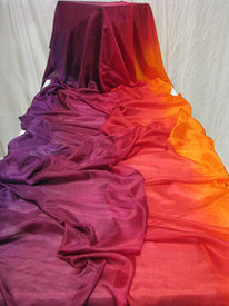 InStock Ready2Ship :XLONG  5mm Ultralight 3.5 Yard Silk Belly Dance Veil, in TROPICAL SUNSET