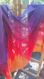 InStock Ready2Ship:  Ultralight  XSMALL 5mm 36x72in TROPICAL SUNSET  Colors   XSMALL 2 YD  CHILD VEIL