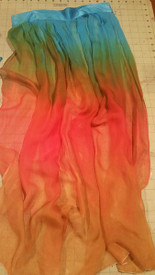 INSTOCK Ready2Ship    ** QTY1!  WIDE ADJUSTABLE ARM DRAPES or SKIRT PANEL* 5mm Silk  CHIFFON in, EGYPTIAN QUEEN  15wide 34inches long