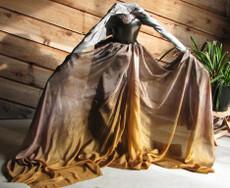 AUTUMN PREORDER VEIL OFFER:  5mm Ultralight 3 yard Silk Belly Dance Veil, in TUTANKHAMEN