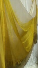 WINTER VEIL OFFER:  5mm Ultralight 3 yard Silk Belly Dance Veil, in GOLD SHEBA (NEW Summer2014)
