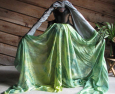 WINTER VEIL OFFER:   5mm Ultralight 3 yard Silk Belly Dance Veil, in PROSPERITY