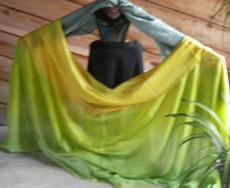 WINTER VEIL OFFER:  5mm Ultralight 3 yard Silk Belly Dance Veil, in SAFARI FANTASY