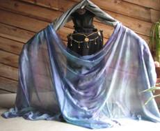 WINTER PREORDER VEIL OFFER:  5mm Ultralight 3 yard Silk Belly Dance Veil, in ENCHANTED HEALING DREAMS