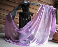 SPRING VEIL OFFER:   Ultralight 3 yard Silk Belly Dance Veil, in PLUM BLOSSOM