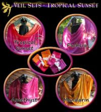 SET OF 4 VEILS  AS SHOWN