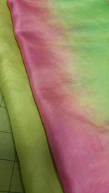 INSTOCK READY2SHIP:   5mm Ultralight 3 yard Silk Belly Dance Veil, in SPRING PINKS MINT MEADOW