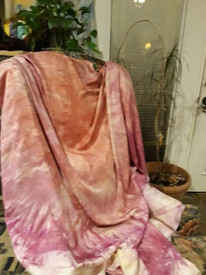 WINGS SILK INSTOCK:   ready FINAL SEWING:    One of a Kind  PINK DEVOTION SILK ISIS WINGS 8mm 54x90