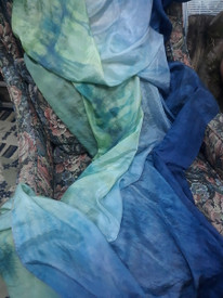 5MM 3YARD INSTOCK READY2SHIP: 5MM ULTRALIGHT 3 YARD SILK BELLY DANCE VEIL,  in STARRY NIGHT TONES