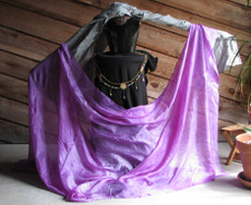 5mm Ultralight 3 yard Silk Belly Dance Veil, in FRENCH LILAC