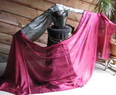 5mm Ultralight 3 yard Silk Belly Dance Veil, in GARNET