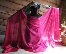 5mm Ultralight 3 yard Silk Belly Dance Veil, in AMETHYST