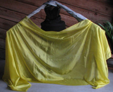 5mm Ultralight 3 yard Silk Belly Dance Veil, in SUN YELLOW