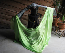 5mm Ultralight 3 yard Silk Belly Dance Veil, in MEADOW