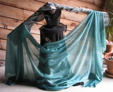 5mm Ultralight 3 yard Silk Belly Dance Veil, in EMERALD