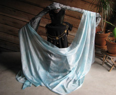 5mm Ultralight 3 yard Silk Belly Dance Veil, in SEAFOAM