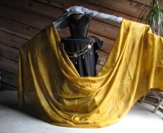 5mm Ultralight 3 yard Silk Belly Dance Veil, in PRECIOUS GOLD