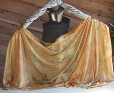 5mm Ultralight 3 yard Silk Belly Dance Veil, in SHERWOOD FOREST
