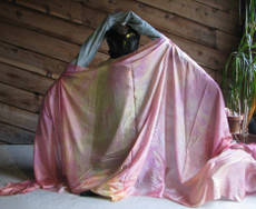 5mm Ultralight 3 yard Silk Belly Dance Veil, in MORNING SUNRISE