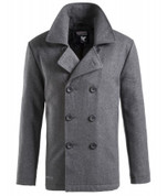 Surplus Vintage Pea Coat Anthracite Grey