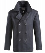 Surplus Vintage Pea Coat (Navy Blue)