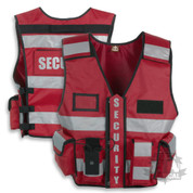 Security Vest Hiviz Red