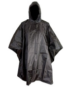 Black Waterproof Ripstop Poncho